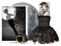 """""""Drawing Down the Moon"""" by acielle ❤ liked on Polyvore featuring MOROSO, Rafé New York, RED Valentino, David Webb, Gianvito Rossi, Roberto Cavalli, modern, valentino, fine and rossi"""