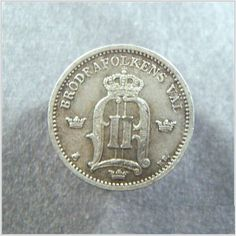 1885 EB Sweden Coin Silver 25 Ore AU Listing in the Sweden,Europe (Non & Pre €),Coins,Coins & Banknotes Category on eBid United States