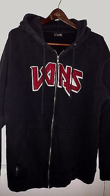 VANS Black Red Letters Zipper Hoodie hooded  Size XL XXL no tag  vintage rare
