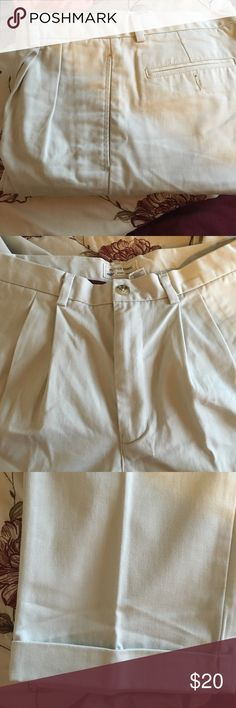 Slacks for Him Classic pleated front khakis cuffed bottom slacks.  Zipper front with side pockets. 2 back pockets.  Great for hanging out or as work pants. 33 x 32 Old Navy Pants Chinos & Khakis