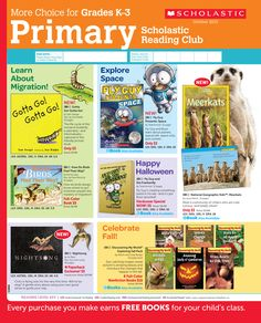 It's the October 2013 Scholastic Reading Club Flyer for the Primary Grades (K-3)!
