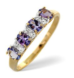 Tanzanite And Diamond Gold Ring - Item Tanzanite Engagement Ring, Tanzanite Ring, Engagement Rings, Diamond Stores, Minerals, Gold Rings, Sapphire, Eternity Rings, Jewellery