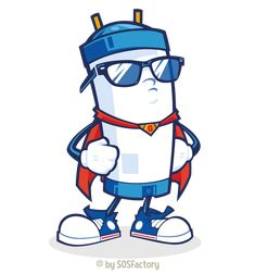 Plumbing company mascot » SOSFactory