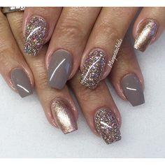 Pretty for Fall ✨✨#gelnails #naturalnails #hardgel #MargaritasNailz #glittergel #fallfashion #fashionnails #nailedit #nailcouture #nails #fallnails #lightelegancehq #nailpro