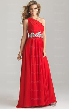 602ff3c0ef3 Beading Empire A-line One Shoulder Floor-length Chiffon Prom Dress