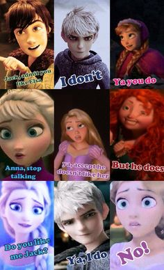 Super Six and Jelsa. Rapunzel you are married to Eugene<<<finally someone who agrees with me on this<----- omg finally! Rapunzel is married. Funny Disney Jokes, Disney Memes, Disney Quotes, Disney Cartoons, Disney Couples, Disney Girls, Jelsa, Disney And Dreamworks, Disney Pixar