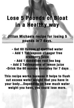 Jillian Michael's Detox Water Mazur Mazur Mazur Mazur Mazur Stump you clearly do NOT need to lose 5 pounds but this might help before wedding just to feel better -- add to a good workout routine! Fitness Motivation, Fitness Diet, Health Fitness, Workout Fitness, Week Workout, Exercise Motivation, Workout Plans, Butt Workout, Jillian Michaels