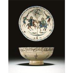 A fine Kashan minai ware pottery bowl, Persia, circa 1200   Lot   Sotheby's