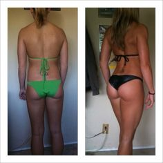 My butt USED to look like that!! After two babies its looking like the before pic here --- I CAN get it back, squats squats squats