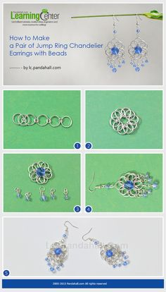 How to Make a Pair of Jump Ring Chandelier Earrings with Beads