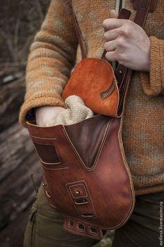 Купить сумка №061 - коричневый, стимпанк, ретрофутуризм, снаряжение, кожа...MXS nice detail in contrasting colour front easement...
