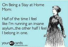 "LOL!  ""Stay at home Mom? Read this new post by ChaoticallyCreative.Com"""