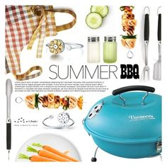"""Summer BBQ"" by totwoo ❤ liked on Polyvore featuring interior, interiors, interior design, home, home decor, interior decorating, Weber, Crate and Barrel, L'Objet and Serax"