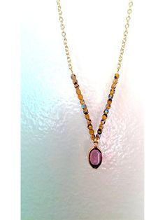 Beautiful Purple Glass Drop Pendant by MadelineMeadeJewelry