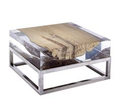 Журнальный стол Nilleq Acrylic Coffee Table With Metal Base, Bleu Nature Acrylic Furniture, Funky Furniture, Unique Furniture, Wooden Furniture, Table Furniture, Furniture Design, Stainless Steel Coffee Table, Acrylic Table, Resin Table