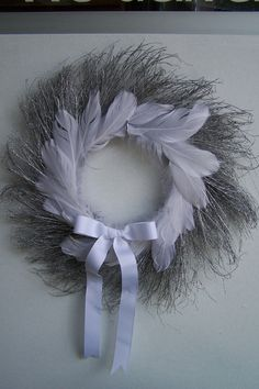 Silver and white sparkle wreath