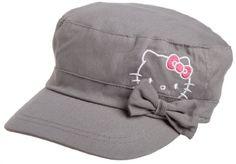 Berkshire Girls 7-16 Hello Kitty Gray Cadet Hat