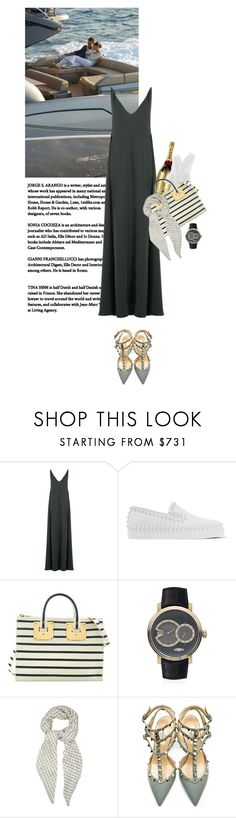 """""""St. Tropez (FRA)"""" by rosa-loves-skittles ❤ liked on Polyvore featuring Valentino, Christian Louboutin, MoÃ«t & Chandon, Sophie Hulme, DeWitt and Bottega Veneta"""