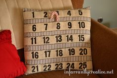 Advent Calendar Pillow