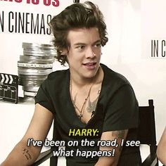 i've been on the road, I see what happens! {GIF} But was he not so insanely cute? I've never seen him so energetic in an interview. - K