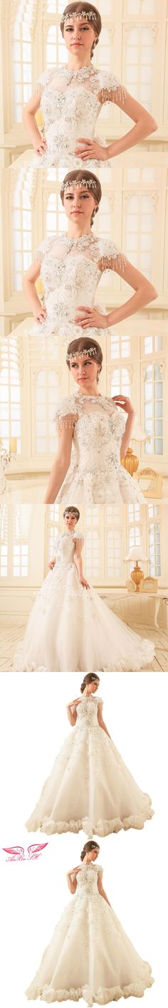 AnXin SH New wedding dress toast clothing marketing luxury Korean princess wedding dress 100% Real Pictures QSYS573