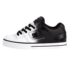 Mens DC Pure Skate Shoe - White/Black/Clear