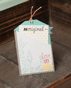 How-to and recipe for creating this note tag using Close To My Heart products, including the My Acrylix® All The Details stamp set. www.closetomyheart.com