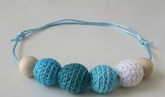 HAND CROCHETED BEADS, 100% COTTON, SLIDING KNOT, one of a kind
