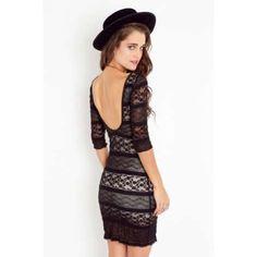 Nastygal scoop back lace mini dress Nastygal scoop back lace mini dress. Worn once- in excellent condition! Nasty Gal Dresses Mini
