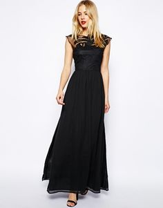 Slideshow: Black Tie On A Budget: 20 Surprisingly Affordable Dresses To Wear To Your Next Fancy Wedding Dresses To Wear To A Wedding, Black Prom Dresses, Nice Dresses, Dress Black, Sheer Dress, Dress Up, Goth Dress, Play Dress, Affordable Dresses