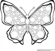 Free Butterfly Printable to Color by ckolander