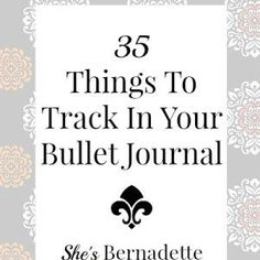 35 Things To Track In Your Bullet Journal - Just started my BuJo today so this was helpful Bullet Journal Book, Bullet Journal Hacks, Bullet Journal Inspiration, Bullet Journals, Art Journals, To Do Planner, Life Planner, Happy Planner, Planner Ideas