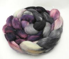 Viola Overboard  Hand Dyed Roving - Spinning Fiber - Dyed to Order