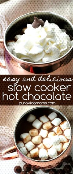 Easy Crockpot Hot Chocolate RecipeYou can find Crock pot hot chocolate recipe and more on our website. Crock Pot Hot Chocolate Recipe, Hot Chocolate Recipes, Fall Recipes, Slow Cooker, Website, Breakfast, Easy, Christmas, Food