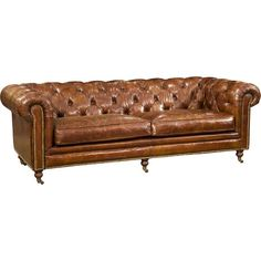 Stylist's Tip: There's a reason the Chesterfield is such a style icon, and this chic sofa is no exception to the rule. Its rolled arms invite lounging wit...