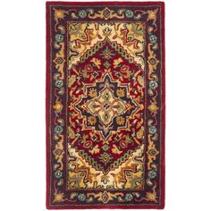 Featuring a traditional-style floral pattern, this Astoria Grand Balthrop Red/Yellow Oriental Area Rug will greatly enhance the look and overall decor of your living room. Hand woven from wool, this area rug is made using a tufted weaving technique, which gives it with excellent durability and longevity. Perfect for use indoors, it features extremely intricate artistic patterns and floral motifs centered on an Oriental/Asian theme, all in multiple colors. The Balthrop Red/Yello...