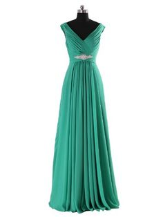 Fashion Bug Plus Size #Sexy V-neck Beaded Long Chiffon Evening Dress www.fashionbug.us