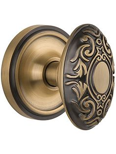 Classic Rosette Door Set With Decorative Oval Knobs | House of Antique Hardware