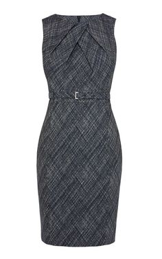 Wear attractive work dresses to look elegant and confident at the work place work dresses cross hatch jacquard pencil dress Dress Outfits, Fashion Dresses, Dress Up, Belted Dress, Dress Skirt, Pretty Dresses, Dresses For Work, Business Dresses, Karen Millen