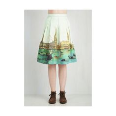 Vintage Inspired Mid-length A-line Canal or Never Skirt ($100) ❤ liked on Polyvore featuring skirts, a-line skirt, apparel, bottoms, white, white knee length skirt, mid length a line skirt, pocket skirt, vintage style skirts and box pleat skirt
