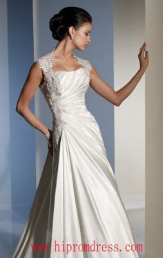 Floor Length Halter Dress White Wedding Gown Applique Beads