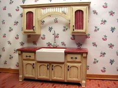 Dollhouse Miniature Furniture - Tutorials | 1 inch minis: How to make kitchen cabinets from mat board. (These look wonderful! I must go back and look at the tutorial.)