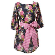 Ladies Floral Navy Sash Tunic – Lolly Wolly Doodle