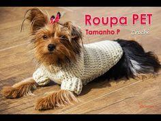How To Crochet a Dog Sweater Freeform Crochet, Diy Crochet, Crochet Baby, Crotchet, Crochet Dog Sweater, Dog Wear, Dog Sweaters, Crochet Videos, Dog Dresses