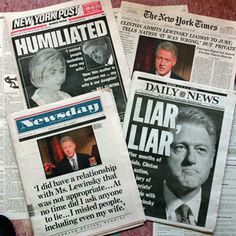 an analysis of the scandal of bill clinton and monica lewinsky Of the monica lewinsky scandal, a senior aide to hillary rodham clinton  a  talmudic interpretation that bill clinton wasn't guilty of adultery.
