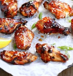 Sticky Honey Sesame Chicken Wings