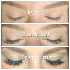 Not my work... Examples of classic and volume lashes