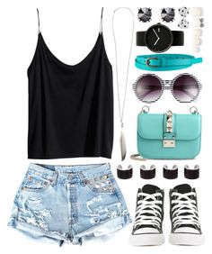 """""""Untitled #183"""" by daneecalifornia ❤ liked on Polyvore featuring H&M, Converse, Maison Margiela, Ann Demeulemeester, Valentino, Fantas-Eyes, Alessi, Juicy Couture, Uniqlo and Forever 21"""