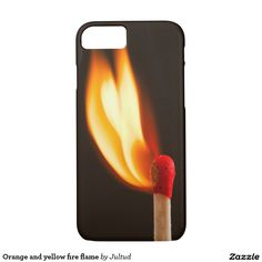 Orange and yellow fire flame iphone 7 case