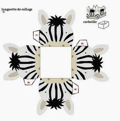 Zebra Free Printable Open Boxes.
